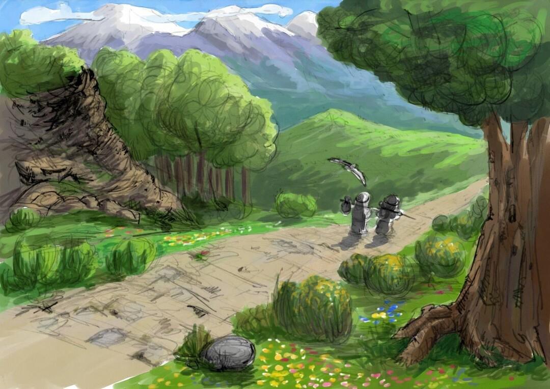 Page 1 of De la búsqueda y lo que encontraron dos princesas y un príncipe pájaro