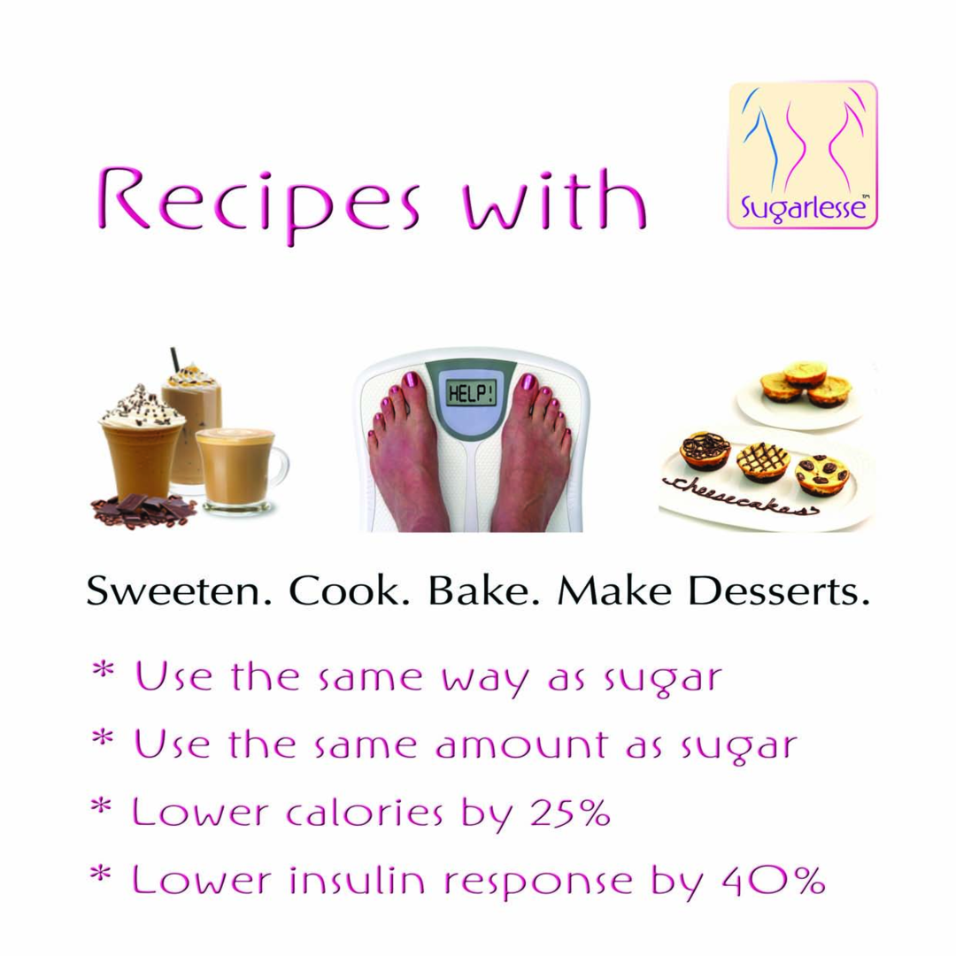 Page 1 of Sugarlesse™ Recipe Collection