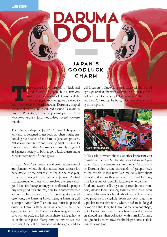 Daruma Doll: Japan's Good Luck Charm - Issuu