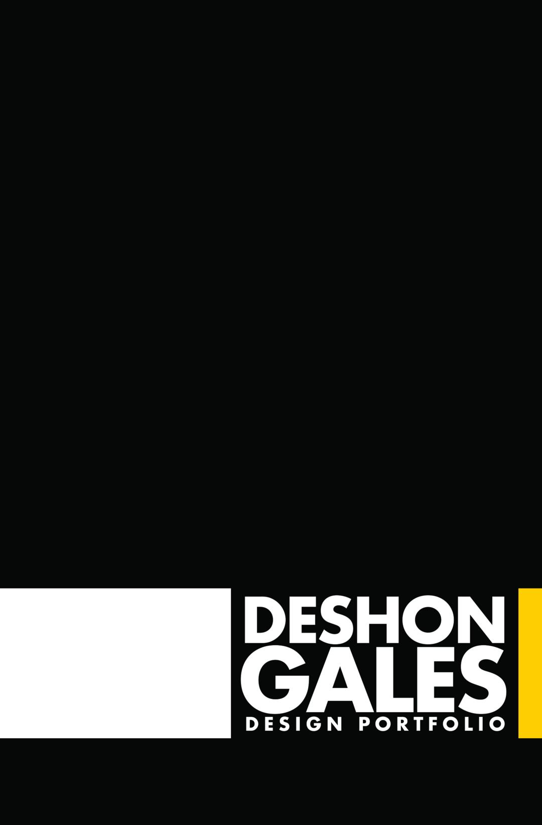 Page 1 of DeShon Gales Design Portfolio