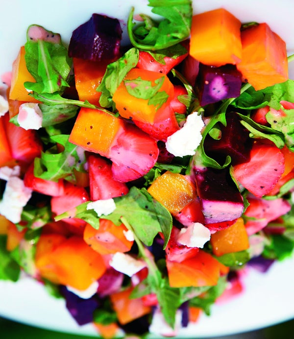 Page 27 of Beet and Strawberry Salad with Arugula and Poppy Seed Dressing