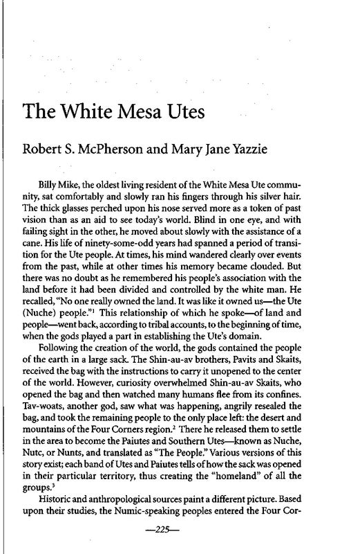 Page 246 of The White Mesa Utes by Robert S. McPherson and Mary Jane Yazzie
