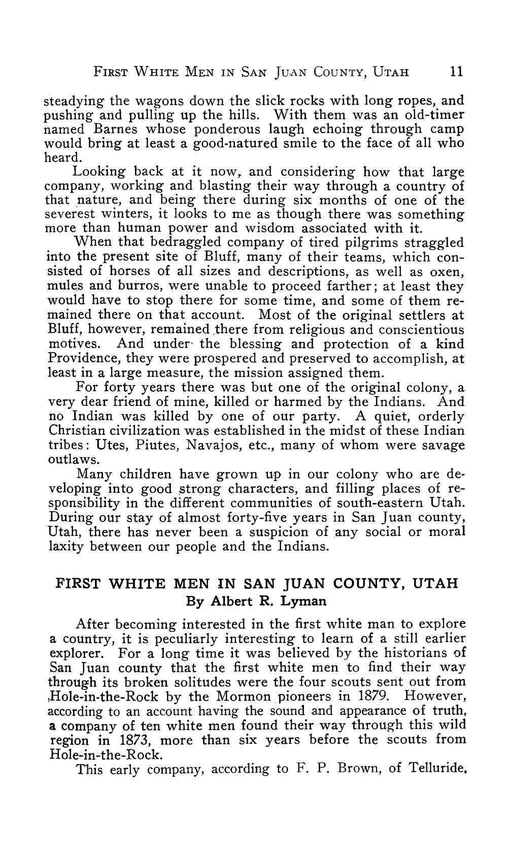 Page 12 of First White Men in San Juan County, Utah