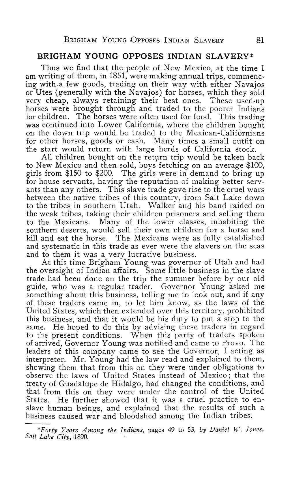 Page 84 of Brigham Young Opposes Indian Slavery