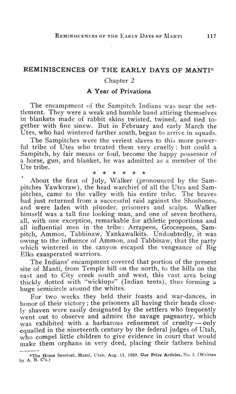 Page 116 of Reminiscences of the Early Days of Manti
