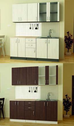 Кухня К4 (бял Крафт/Венге) - мебели Дискрет