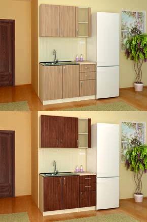 Кухня К3 (дъб Амбер/Венге) - мебели Дискрет