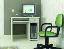 Бюро Евтино (бял Крафт)- мебели Дискрет