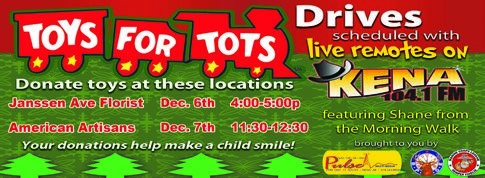Page 16 of Toys for Tots Drive today!