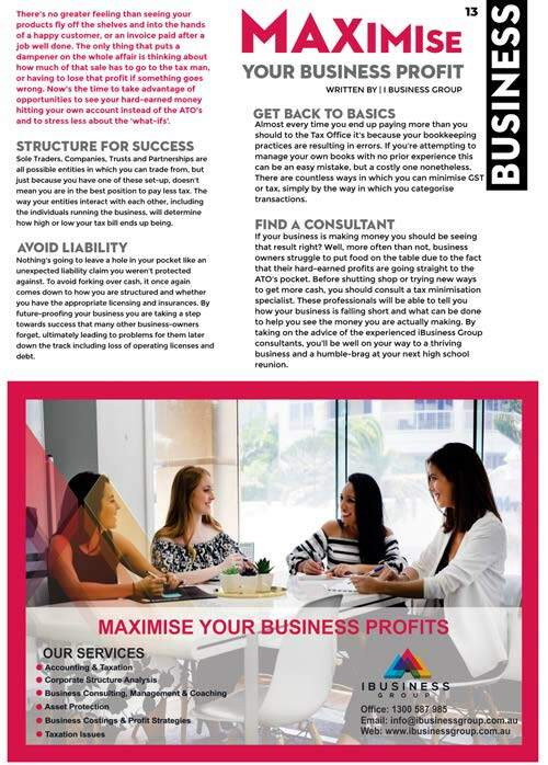 Page 13 of MAXIMISE your business profit