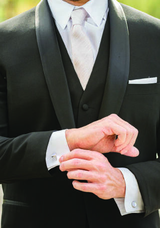 Page 34 of Styling the Groom. Tips for men's wedding fashion