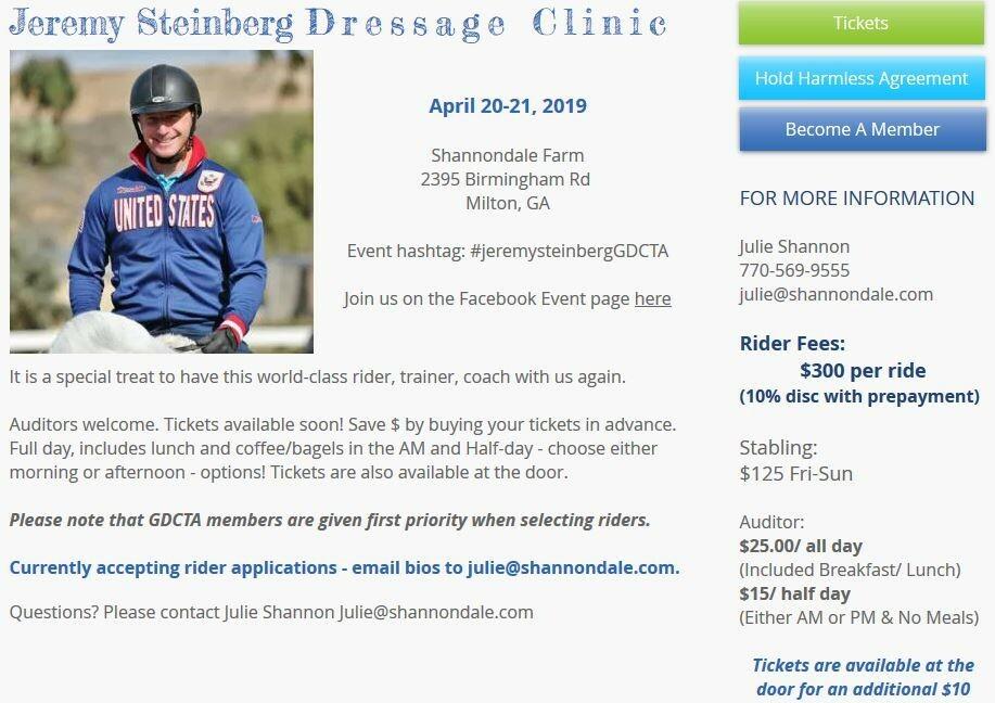 Page 8 of Jeremey Steinberg Dressage Clinic