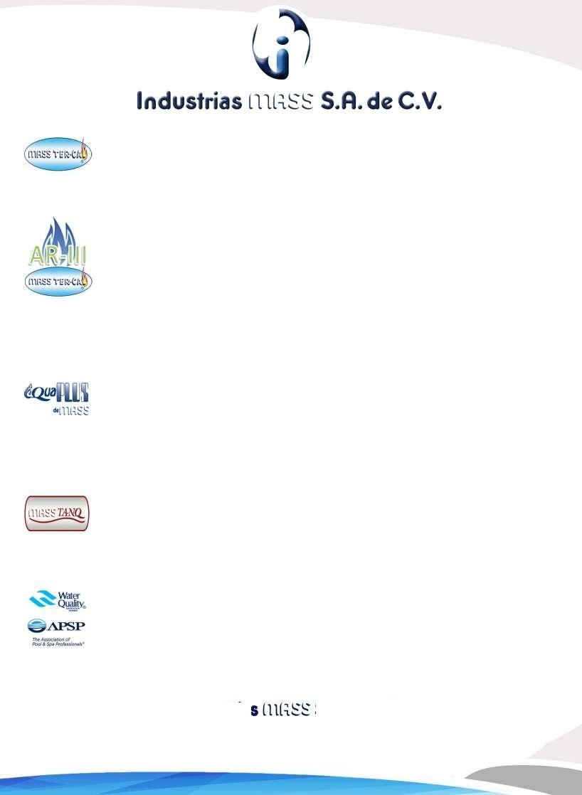 Page 10 of LP-TRA - Filtros, Suavizadores, Tratamiento Agua Limpia AQUAPLUS de MASS®  PÁGINA 10  http://distribuidorindmass.com/