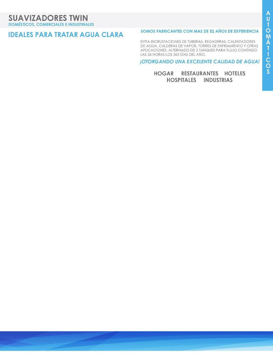 Page 12 of LP-TRA - Filtros, Suavizadores, Tratamiento Agua Limpia AQUAPLUS de MASS®  PÁGINA 12  http://distribuidorindmass.com/