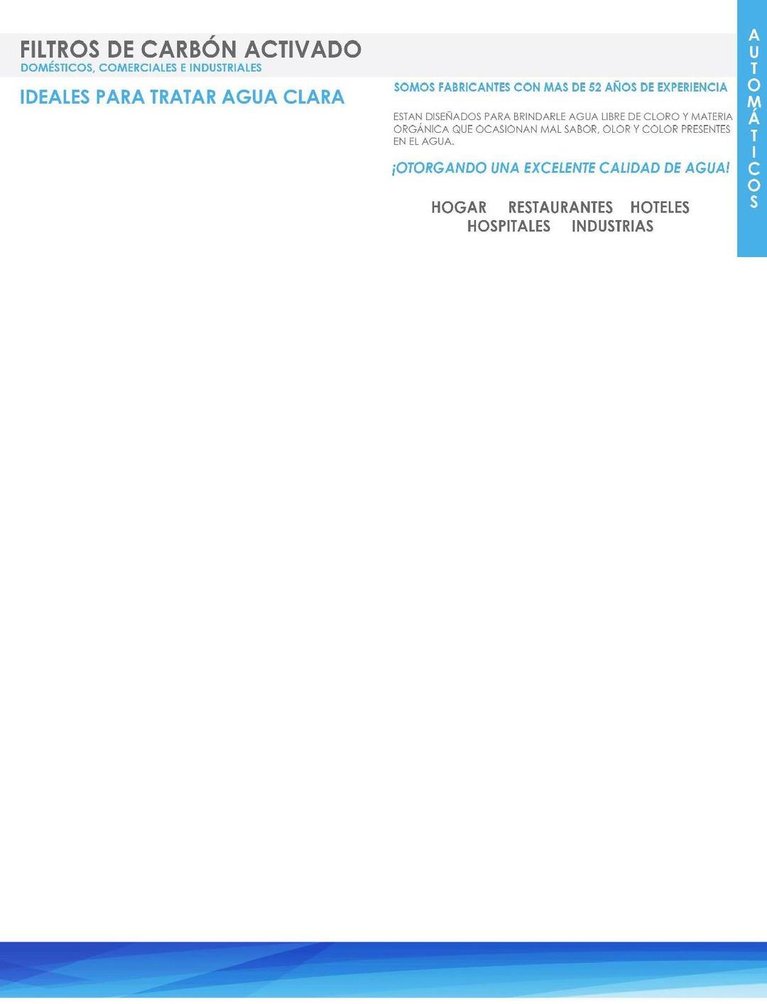 Page 5 of LP-TRA - Filtros, Suavizadores, Tratamiento Agua Limpia AQUAPLUS de MASS®.  PÁGINA 5  http://distribuidorindmass.com/