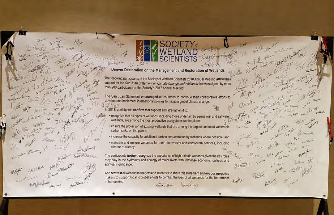 Page 10 of The Denver Declaration on the Management and Restoration of Wetlands