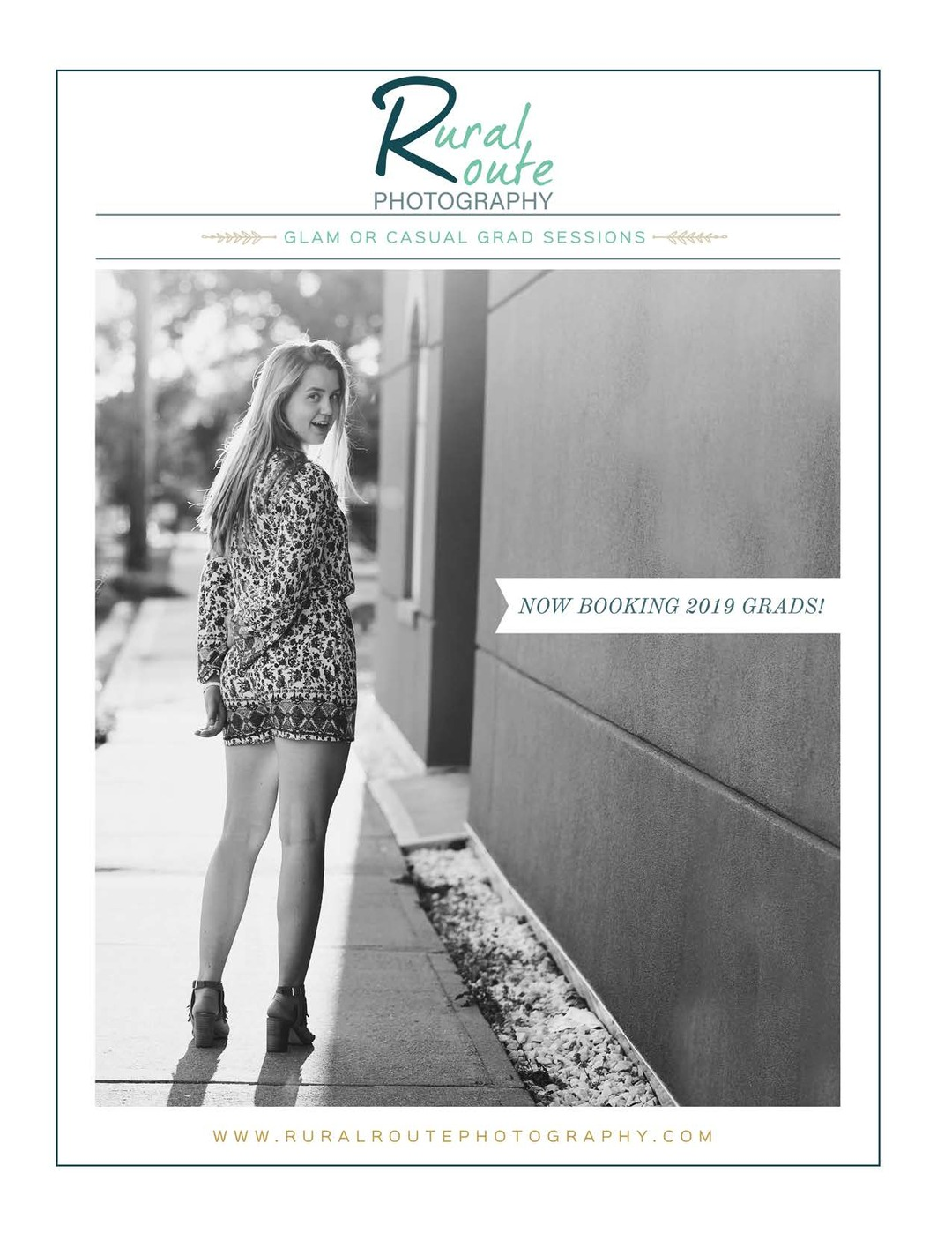 Page 1 of Rural Route Photography Grad Welcome Magazine