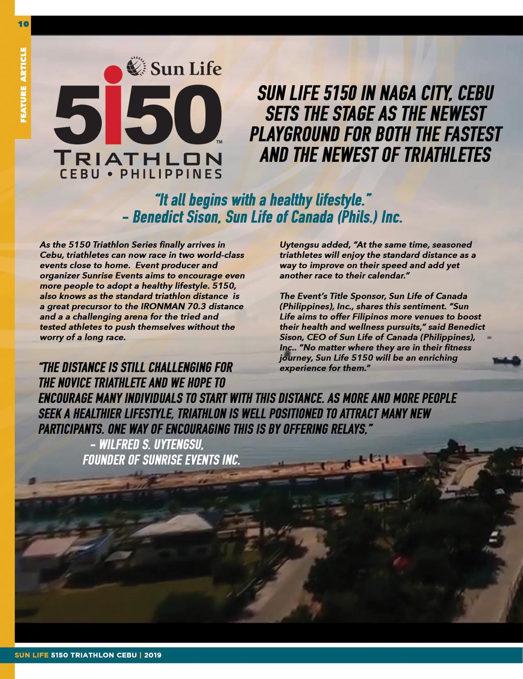 Page 10 of The Inaugural Sun Life 5150 Triathlon in Cebu