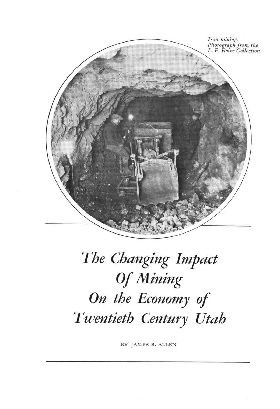 story from: Utah Historical Quarterly, Volume 38, Number 3, 1970