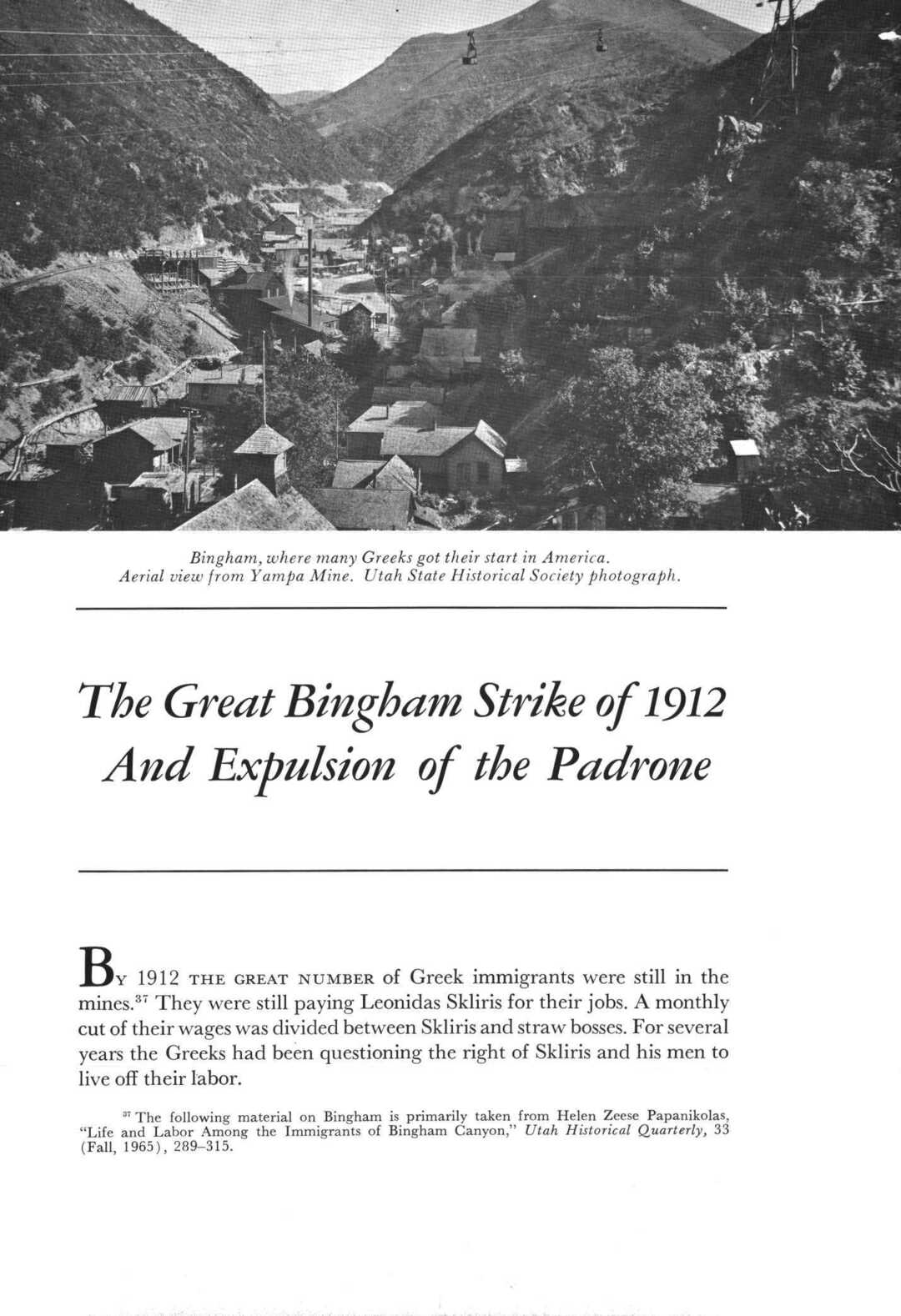 Page 26 of The Great Bingham Strike of 1912 And Expulsion of the Padrone