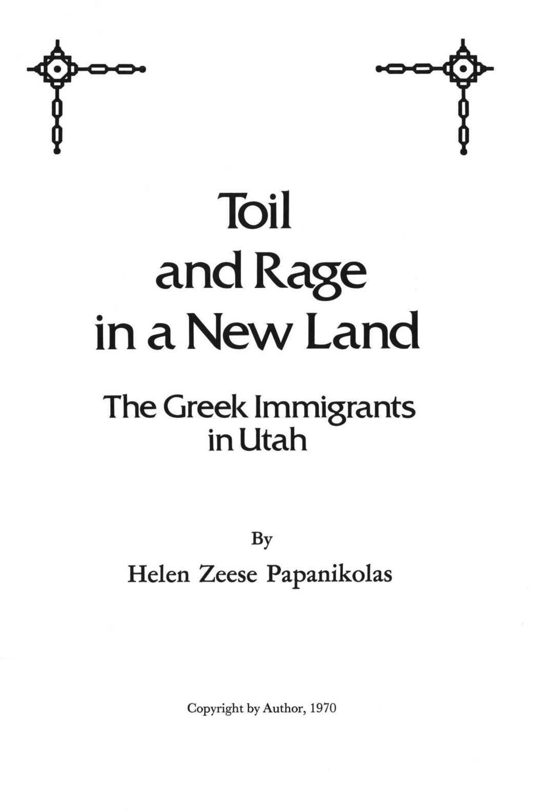 Page 2 of Toil and Rage in a New Land: The Greek Immigrants in Utah  Greek Land