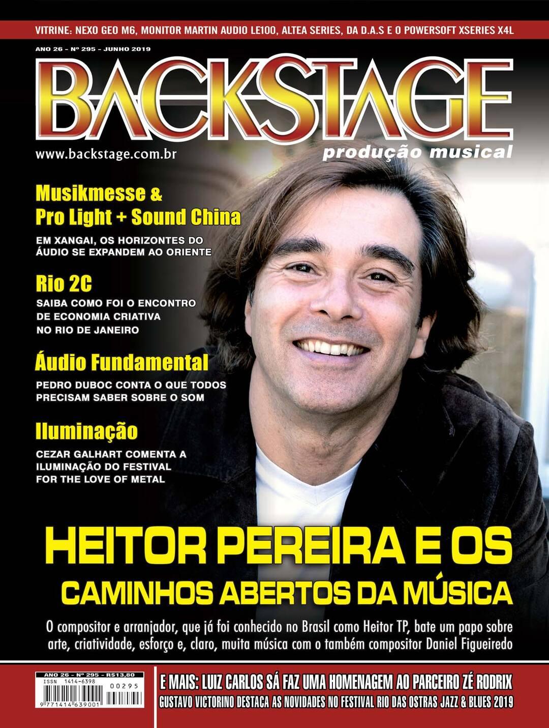 Page 1 of Edição 295 - Junho 2019 - Revista Backstage