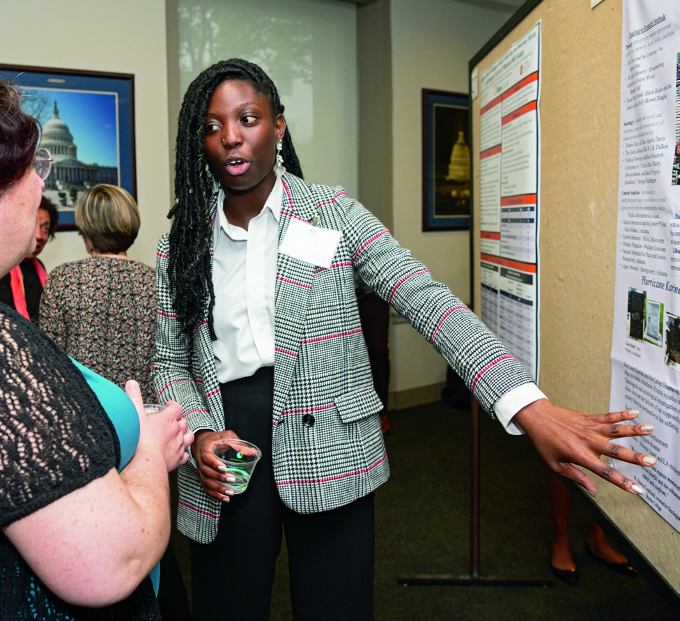 Page 14 of Around Campus: Students Present at World and National Conferences