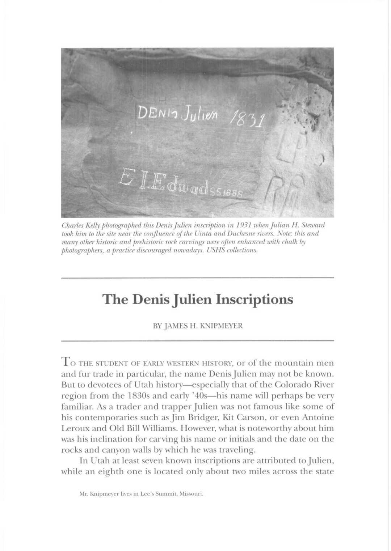 Page 54 of The Denis Julien Inscriptions