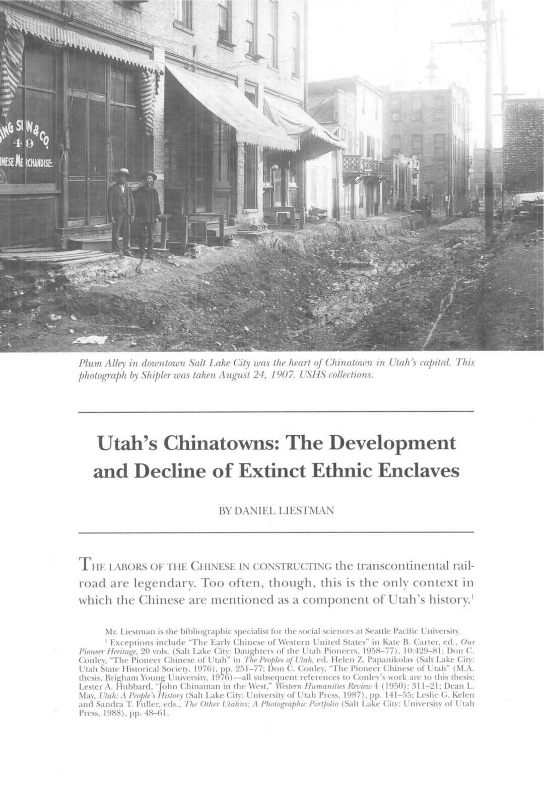 Page 72 of Utah's Chinatowns: The Development and Decline of Extinct Ethnic Enclaves