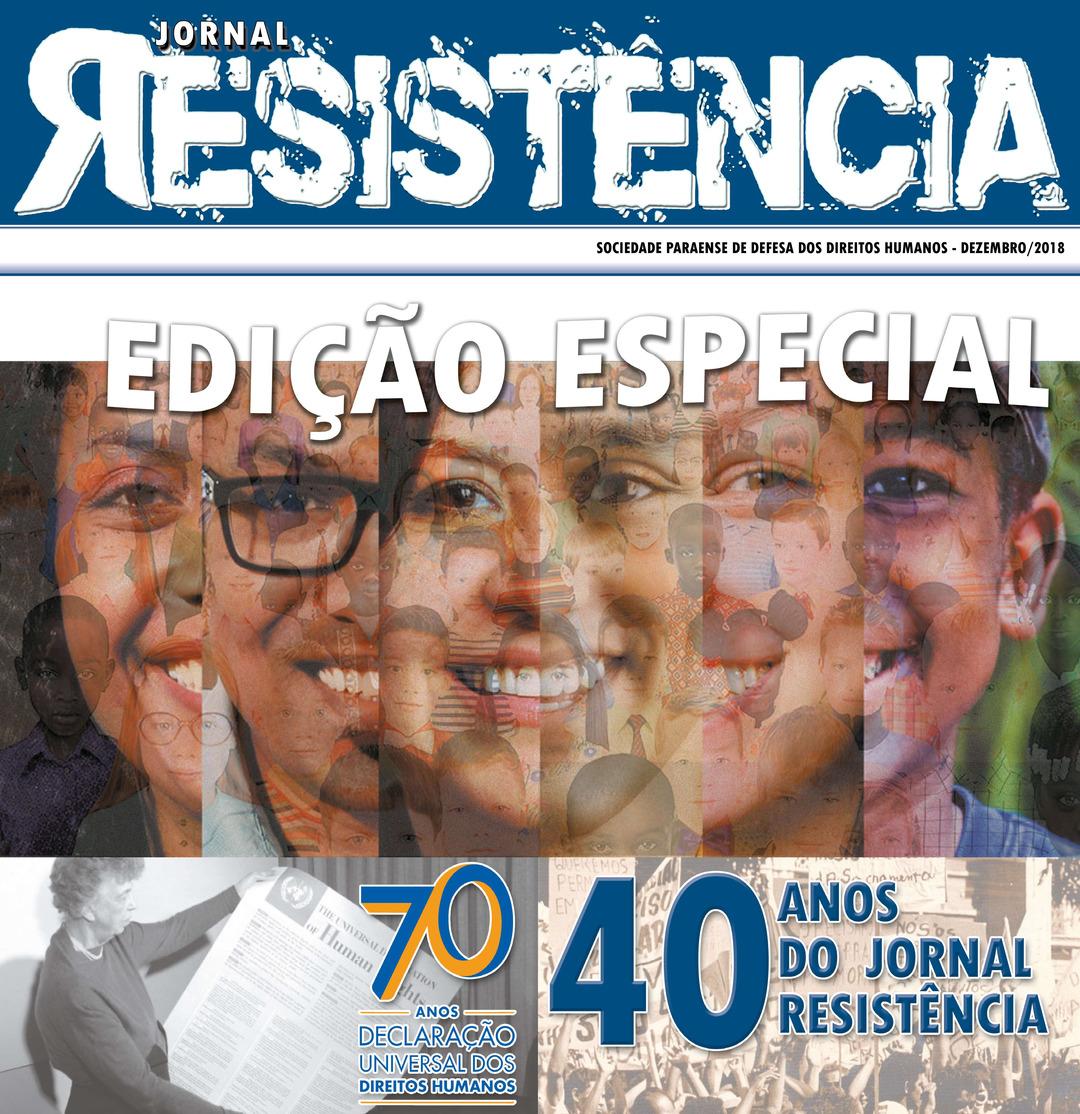 Page 1 of Jornal Resistência- Edição Especial 40 Anos