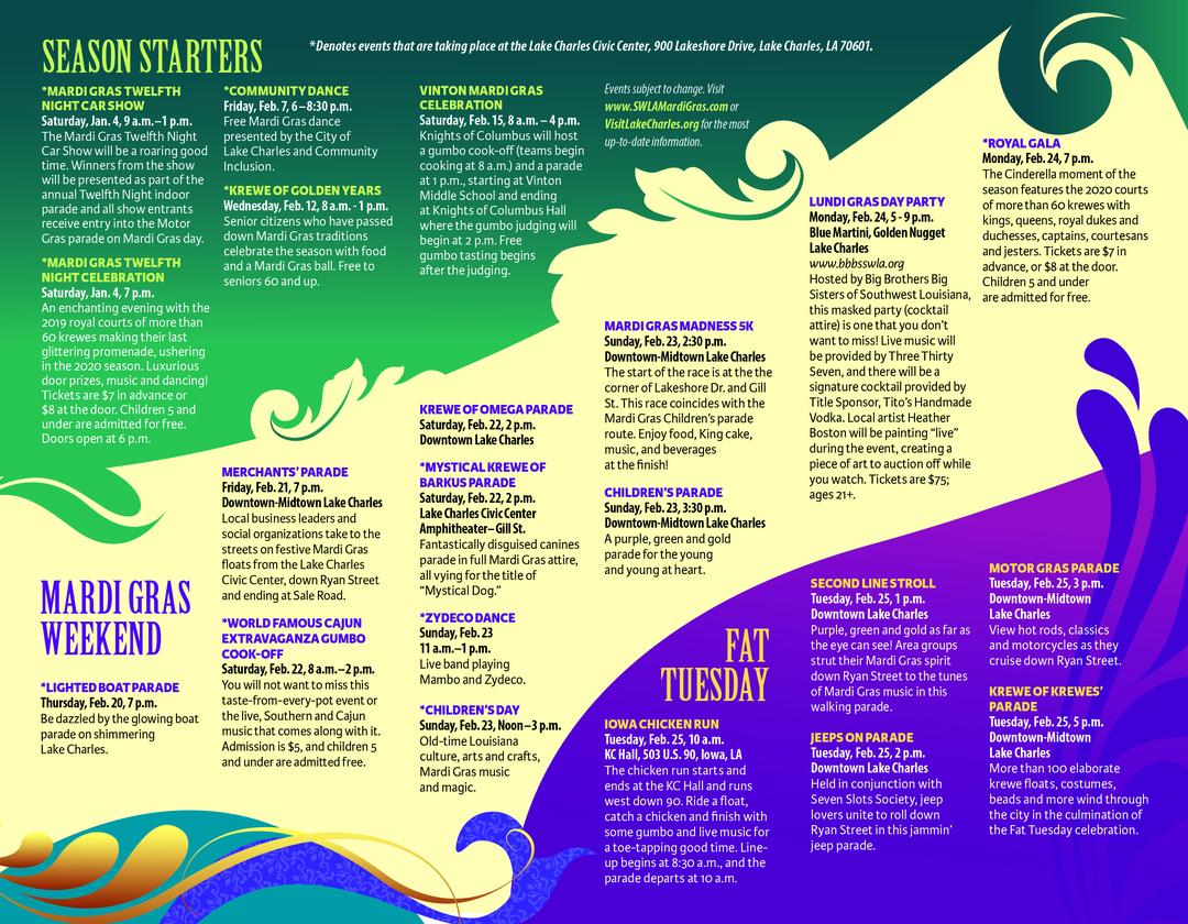 Page 2 of 2020 Lake Charles / Southwest Louisiana Mardi Gras Events