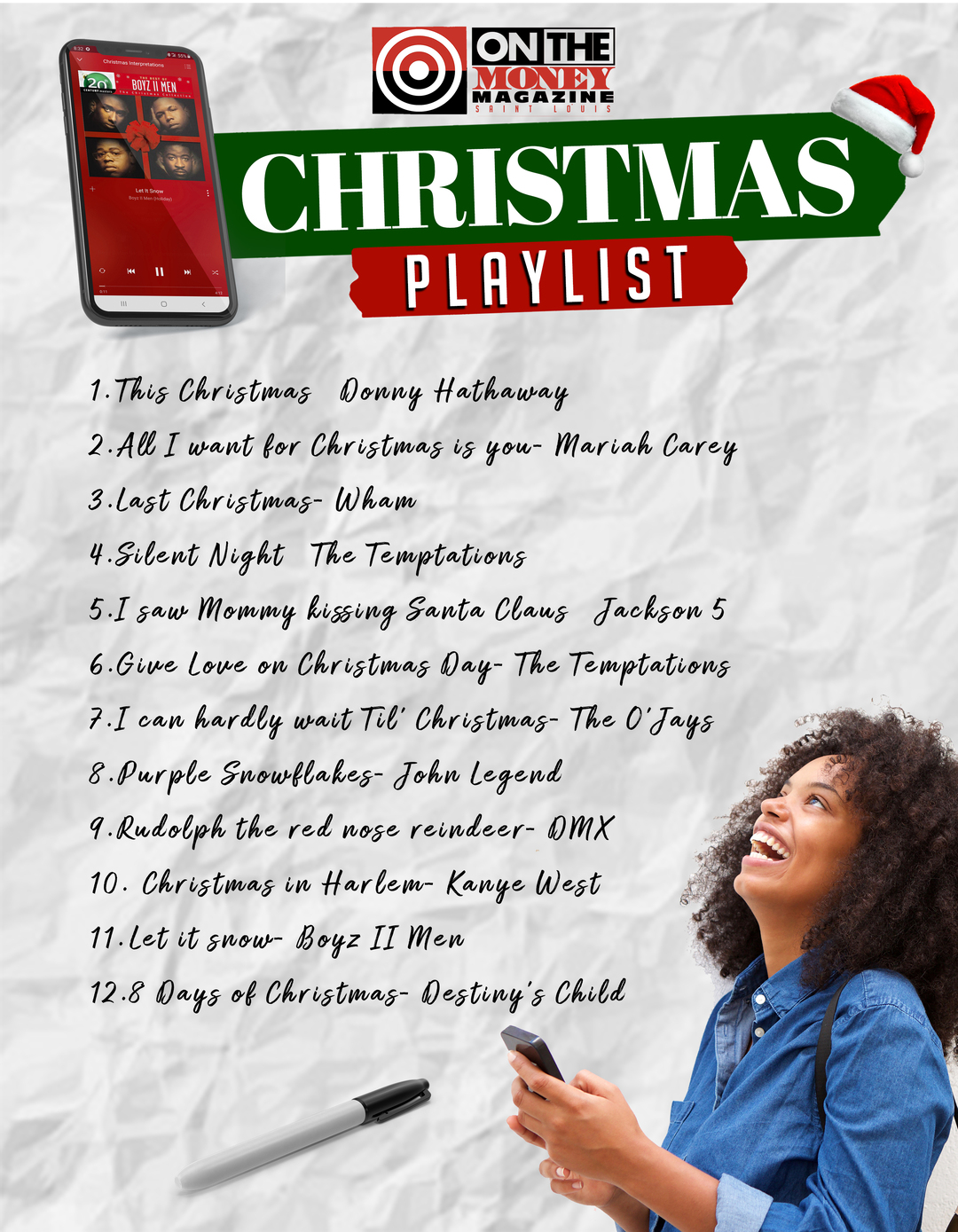 """Page 29 of On The Money """"Holiday Playlist"""""""