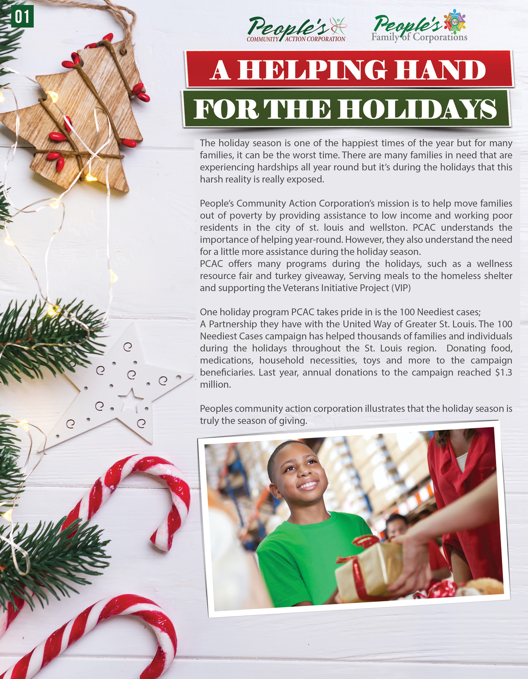 Page 2 of A Helping Hand for the Holidays