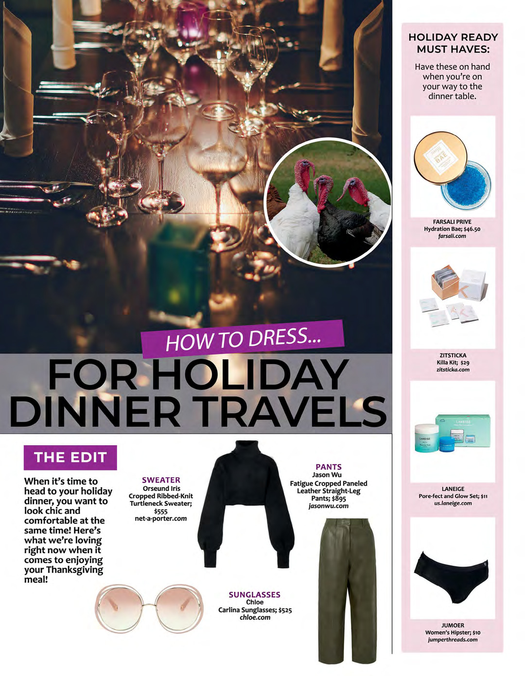 Page 131 of ATHLEISURE MAG NOV 2019 | HOW TO DRESS FOR HOLIDAY DINNER TRAVELS