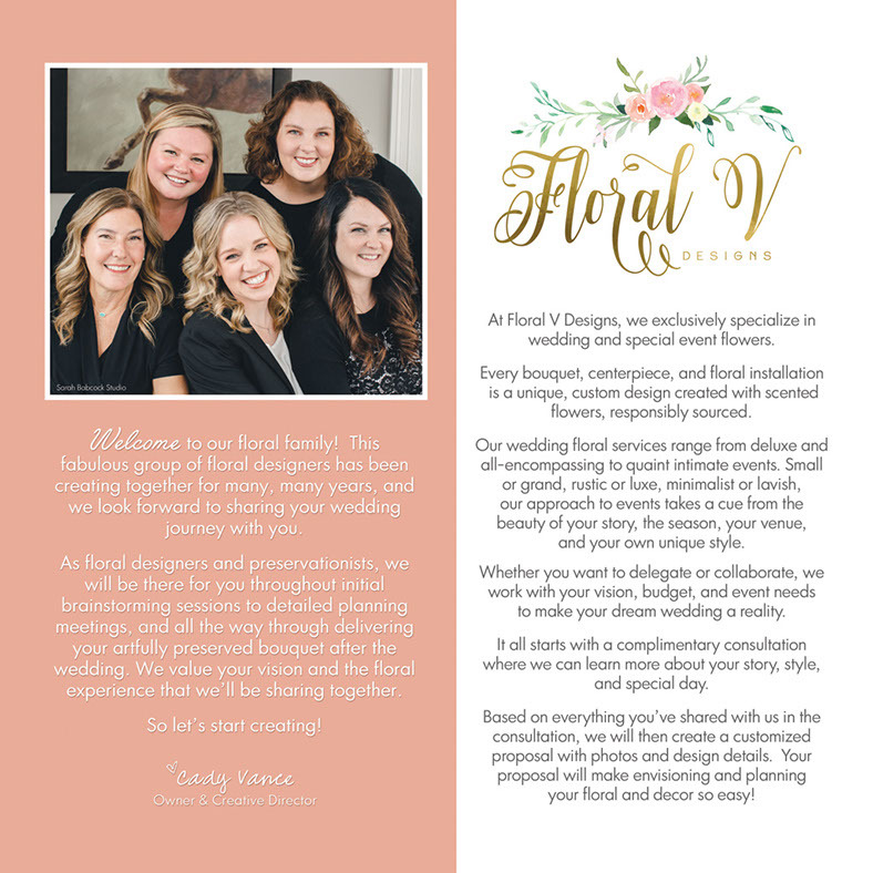 Page 2 of Floral V Designs Wedding Collection