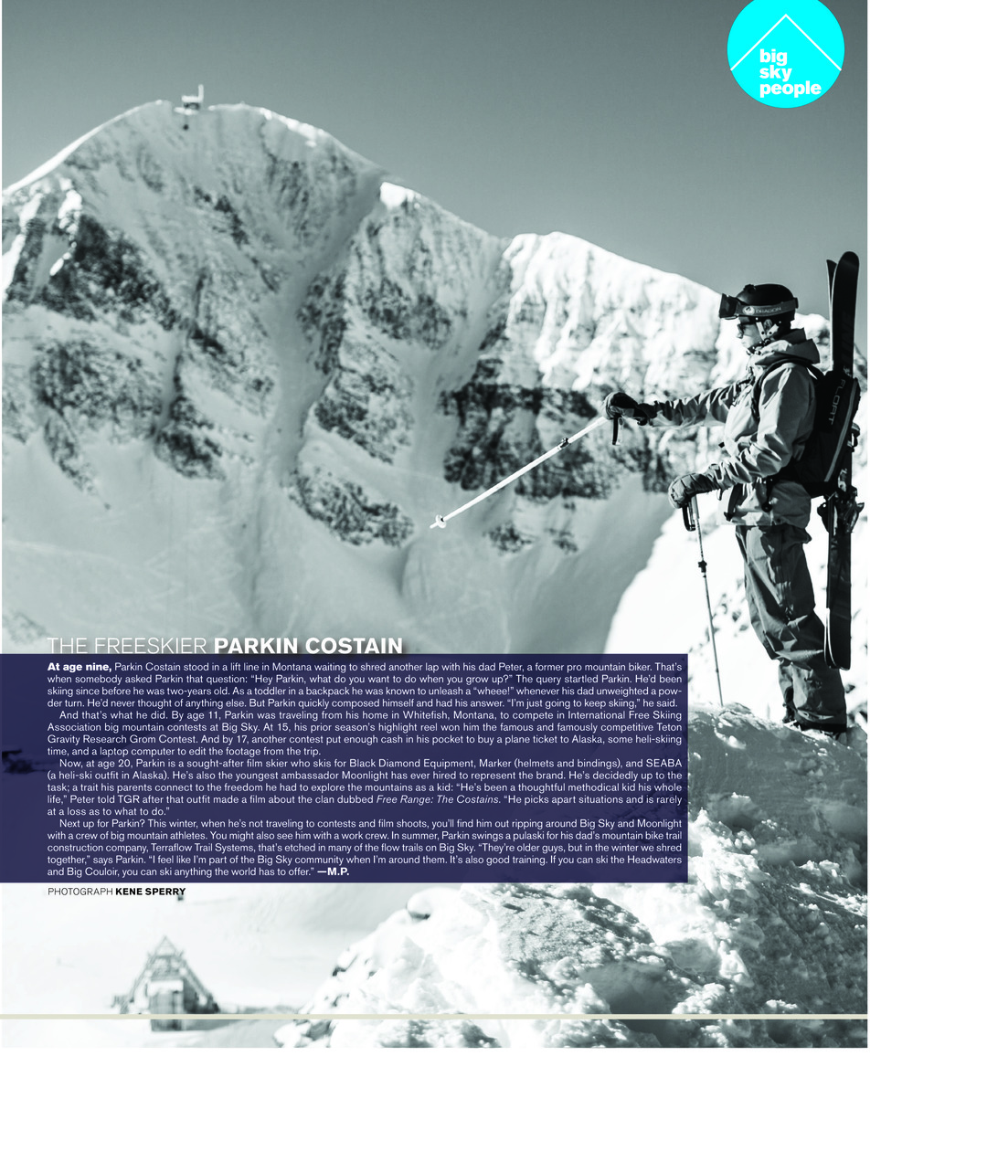 Page 49 of Big Sky People: Parkin Costain - The Freeskier