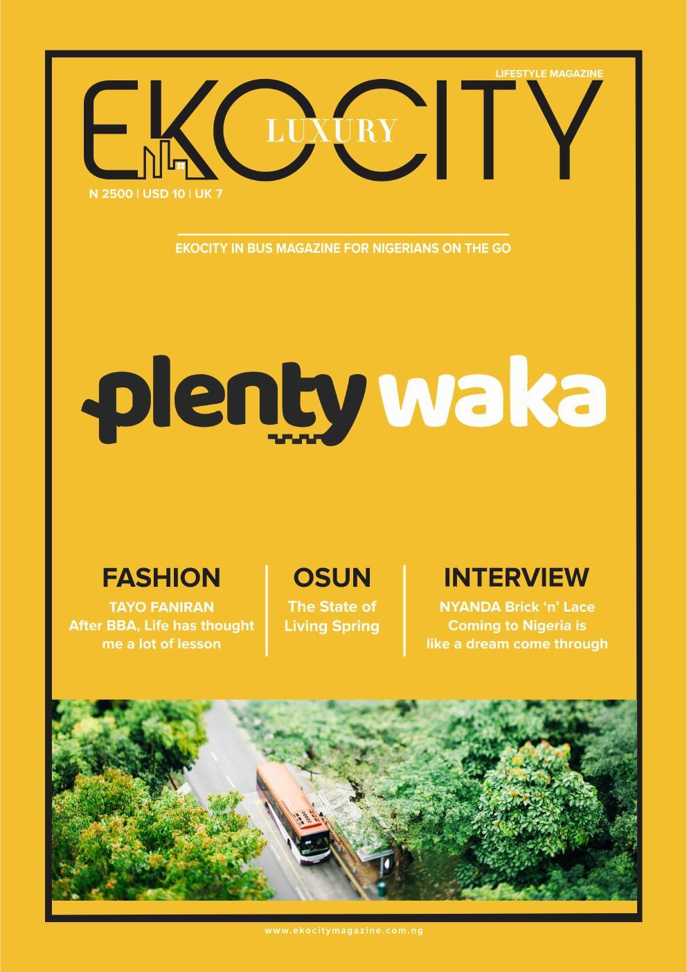 Page 1 of Ekocity Inbus Magazine of Plenty Waka Lagos