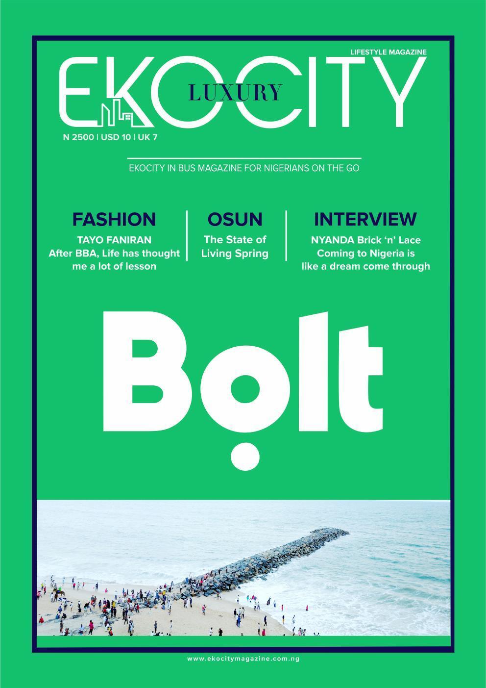 Page 1 of Ekocity Inbus Magazine of Bold Nigeria
