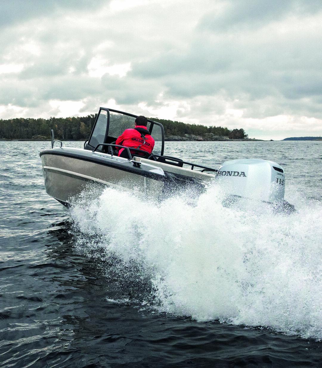 Page 1 of Faster Aluminium Boats 2020 brochure (EN)