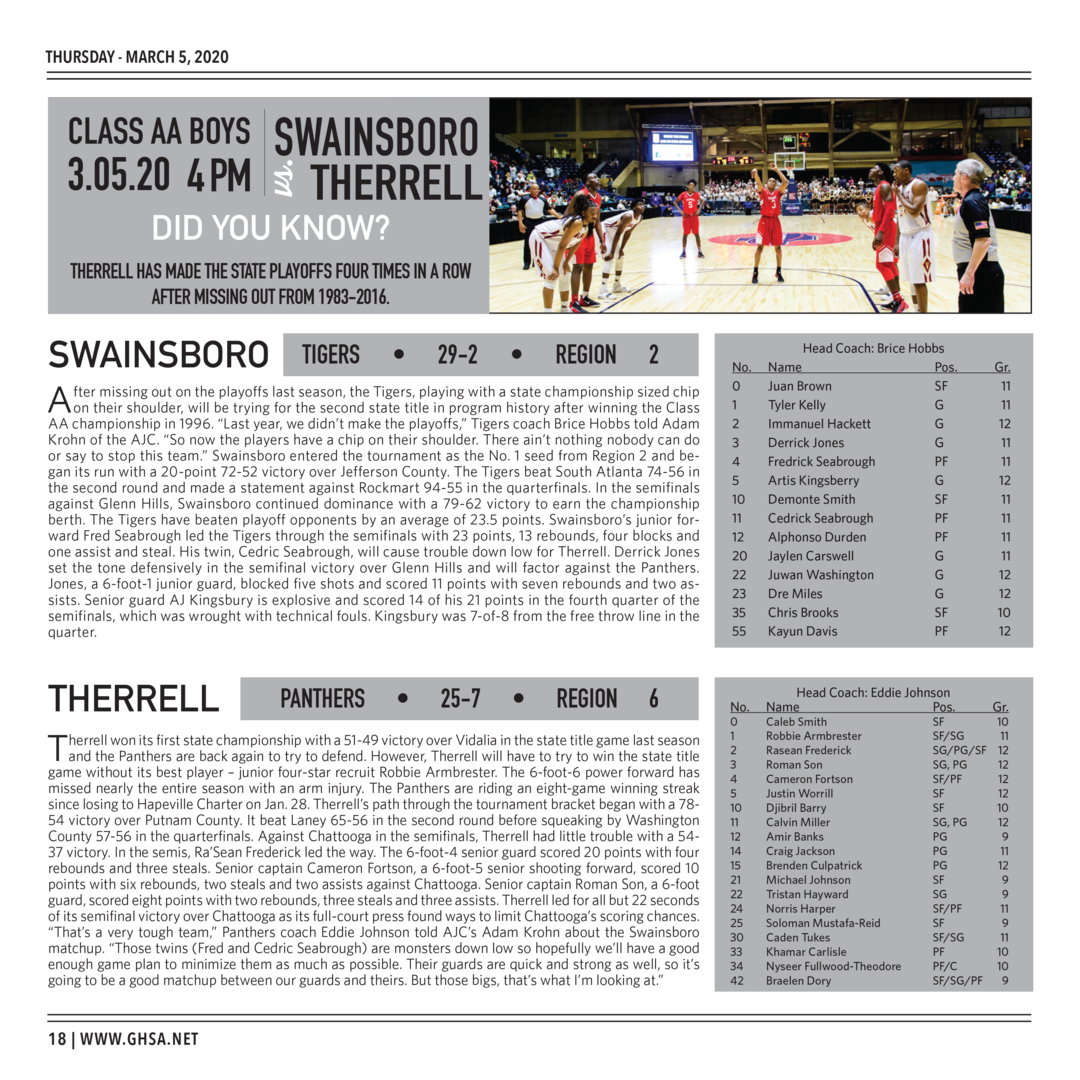 Page 18 of 2020 GHSA Basketball State Championships