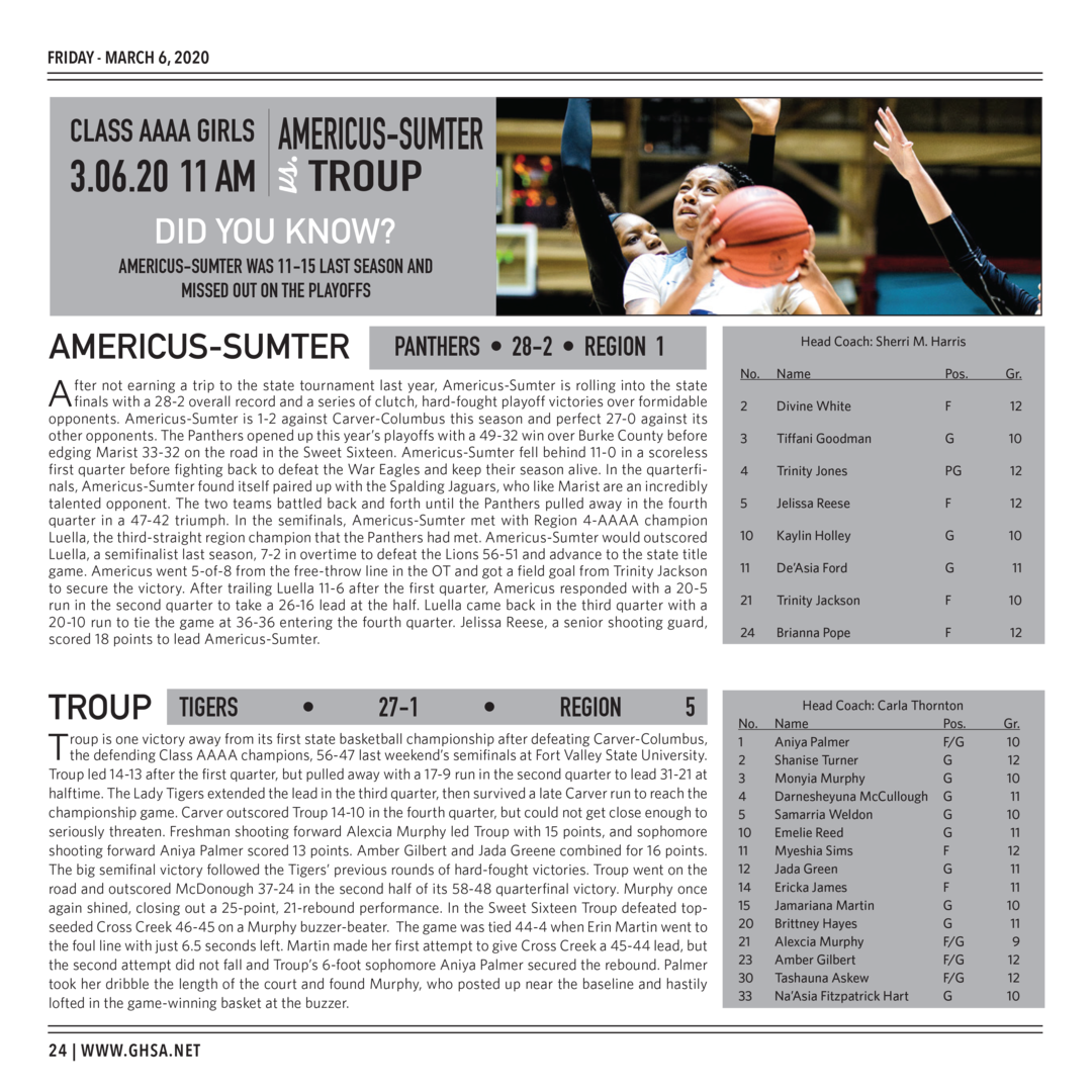 Page 24 of 2020 GHSA Basketball State Championships