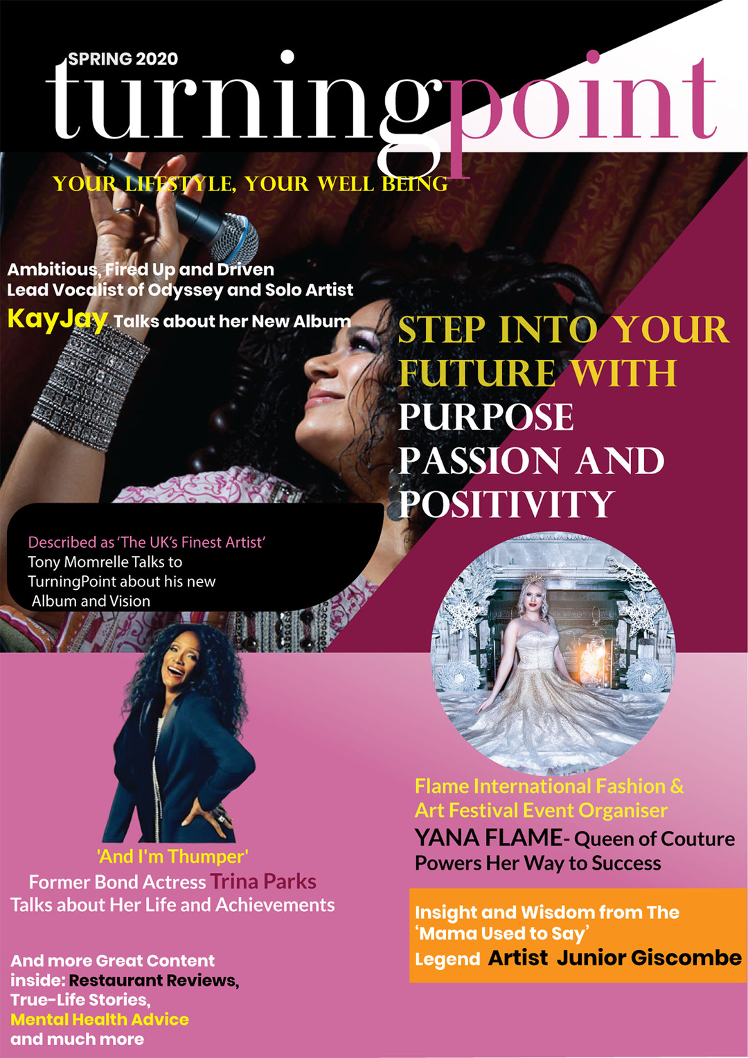 Page 1 of Step Into Your Future with Purpose, Passion and Positivity