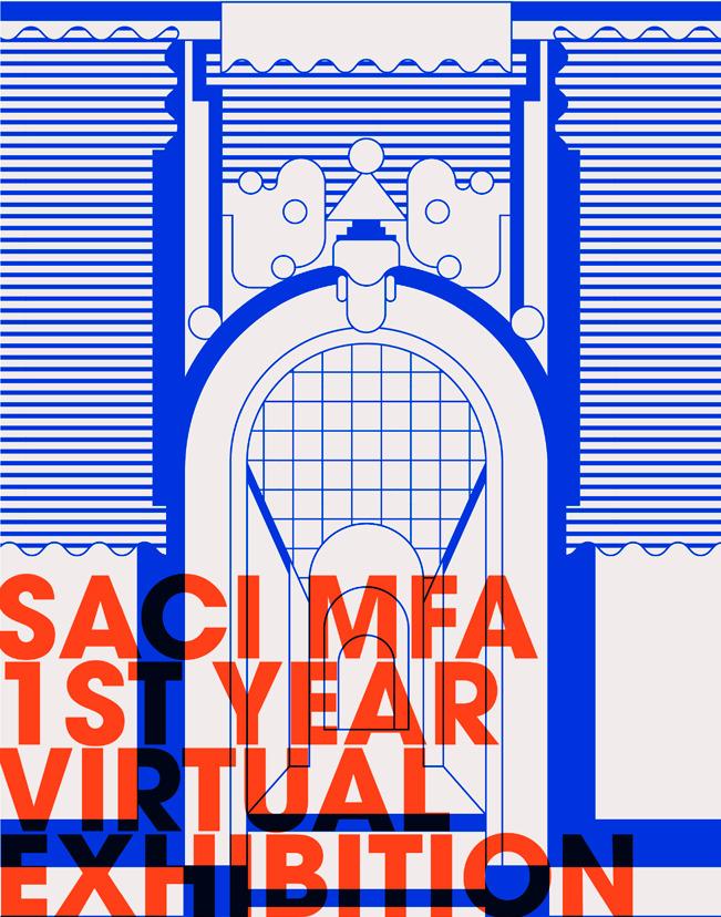 Page 1 of SACI MFA 1st Year Virtual Exhibition Catalog 2020