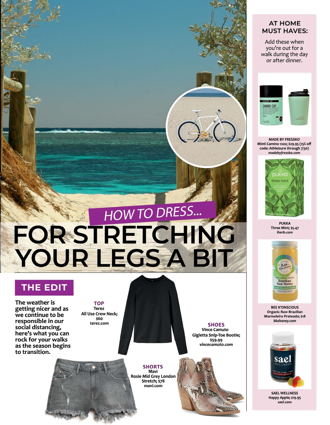 Page 85 of Athleisure Mag #53 May 2020 | HOW TO DRESS For Stretching Your Legs a Bit