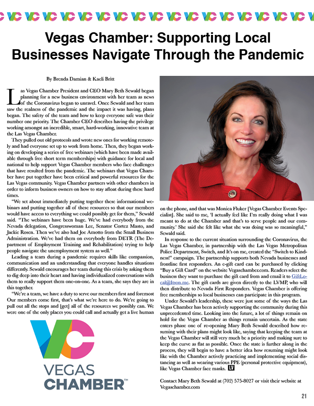 Page 20 of Vegas Chamber: Supporting Local Businesses Navigate Through the Pandemic