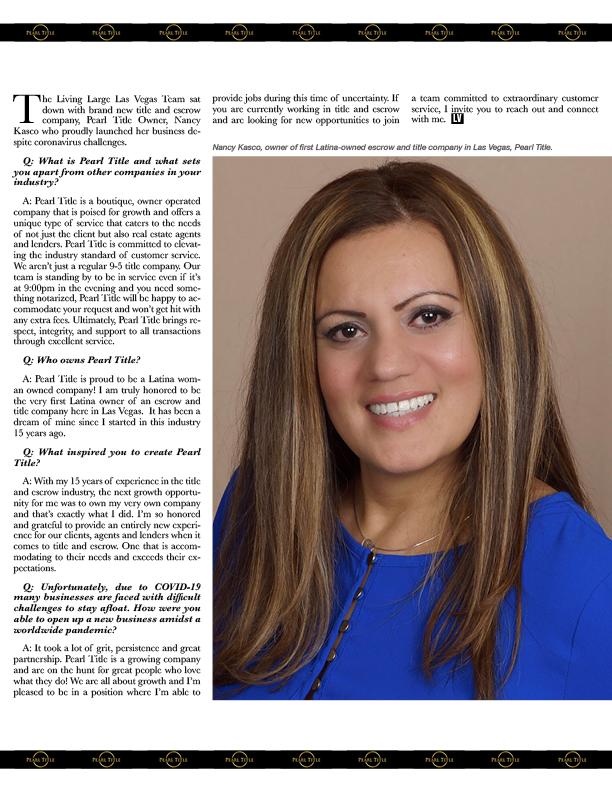 Page 22 of Small Biz Spotlight: Pearl Title, Nancy Kasco
