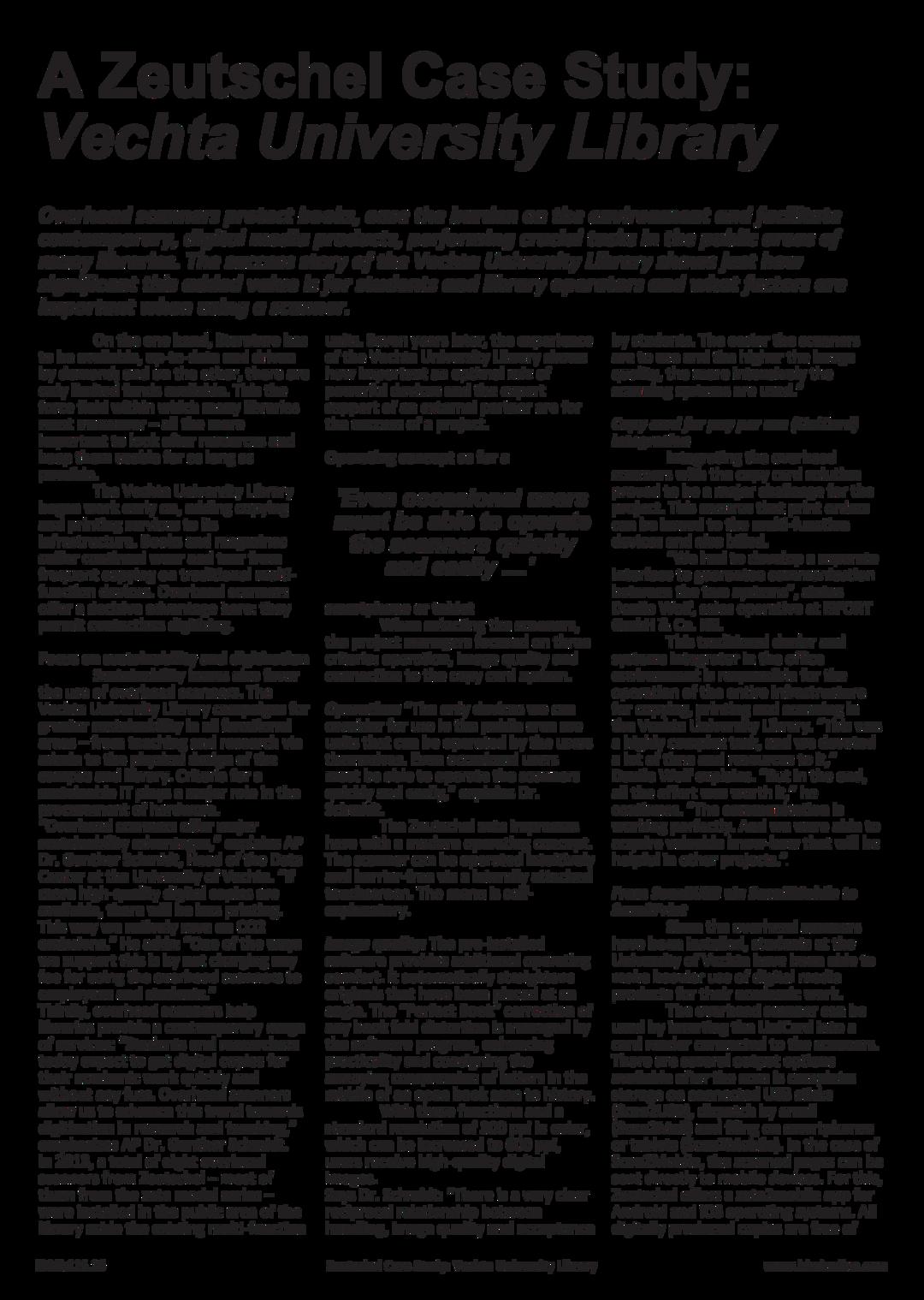 Page 16 of IDMi:116 - Zeutschel Case Study