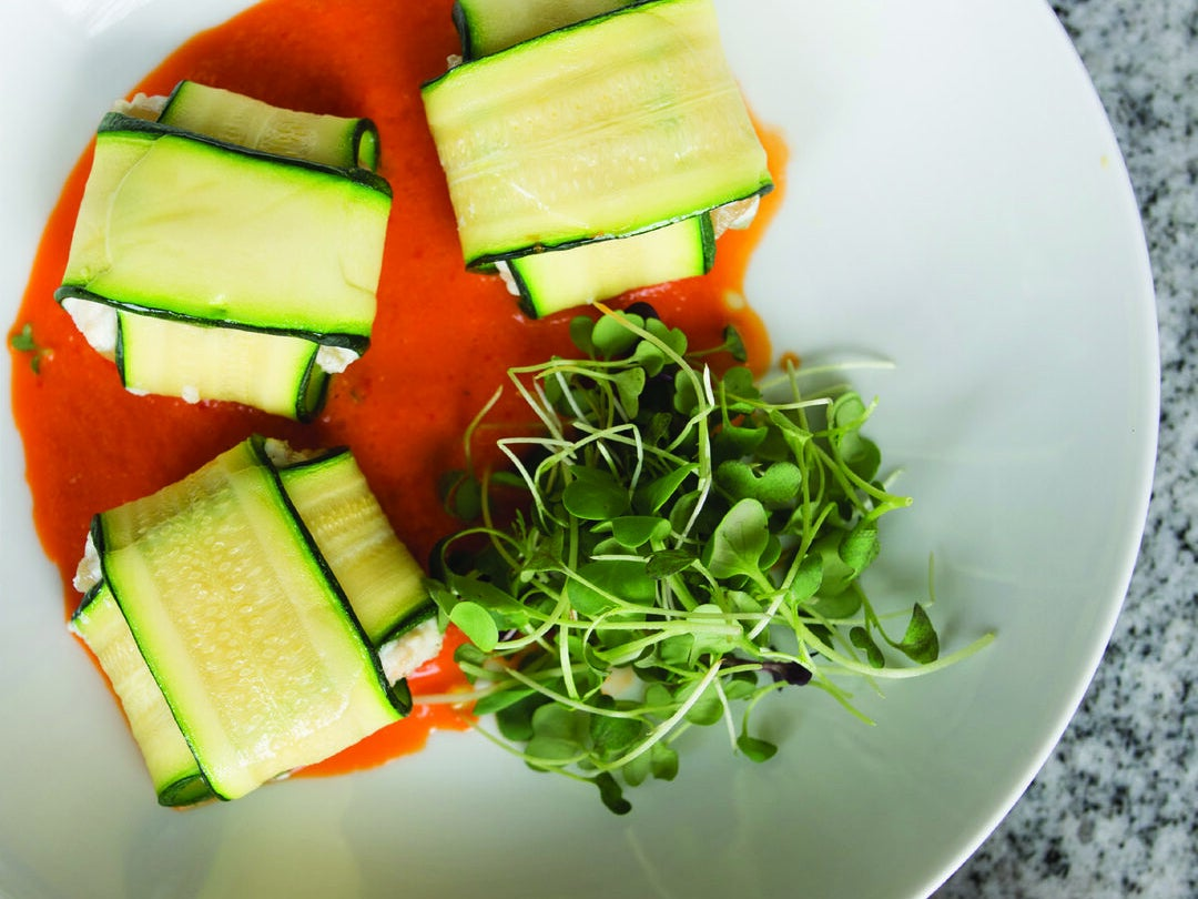 Page 37 of Zucchini Ravioli with Red Pepper Coulis