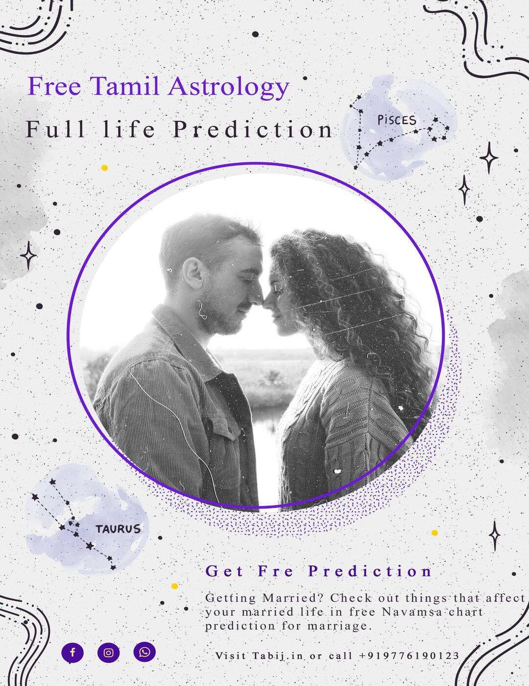 Free Tamil astrology Full life prediction Get Navamsa chart for ...
