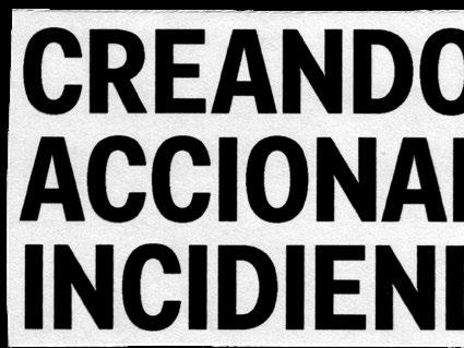"""Page 1 of """"Creando, Accionando, Incidiendo"""".  Trabajadoras de las Artes. Gestoras en red."""